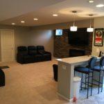 Basement remodel job completed spring 2016