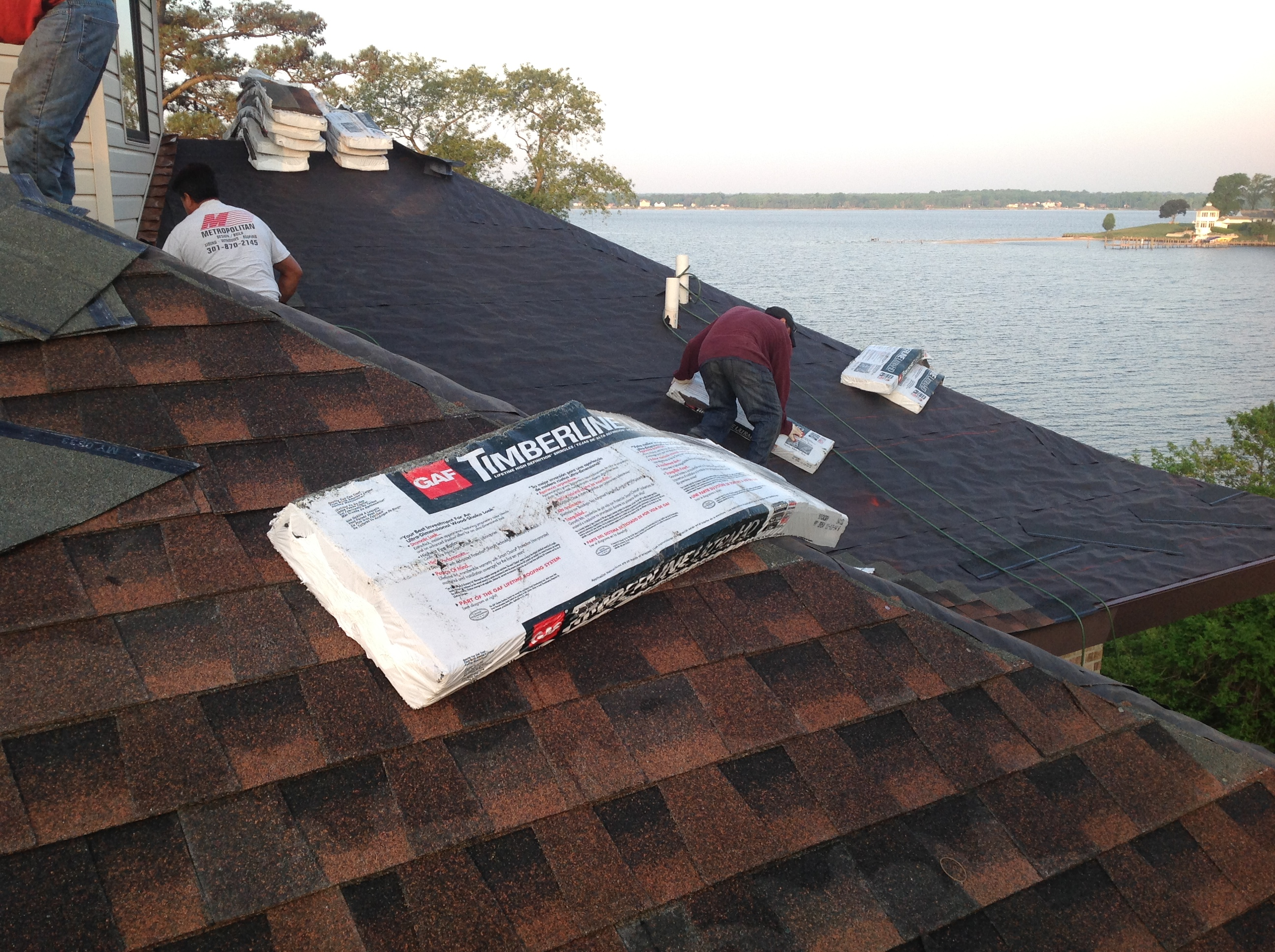 GAF Shingles being Installed in Maryland