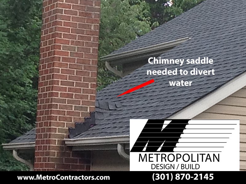 Chimney Saddle Installed Maryland Roof Metropolitan