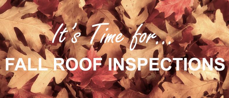 Fall Roof Inspections - Metropolitan Design/Build