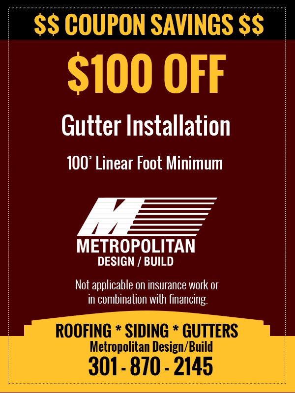 Metropolitan Design/Build Gutter Coupon